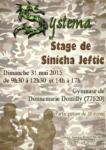 [Annonce] Stage de Systema - 31 mai 2015